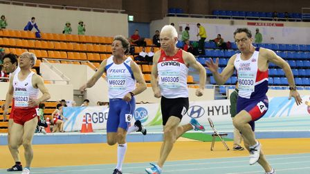 Kevin Burgess at the Masters Indoor Championships in South Korea. Picture: Keith Newton
