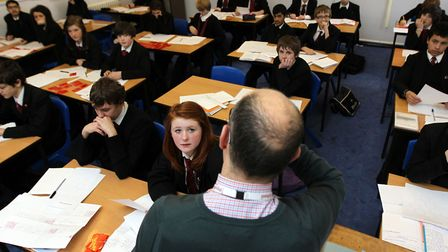 File picture of a secondary school classroom. Picture: David Davies/PA Wire