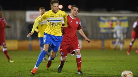 Lynn's Ryan Hawkins is on his way back after almost two months on the sidelines. Picture: Ian Burt