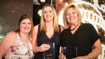 From left, Clare Ford, regional director, Melissa Harrison and Linda Smith, nursery manager at Busy