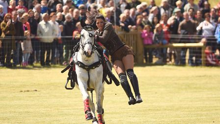 Stampede Stunt Company at the Holkham Country Fair. Picture: Ian Burt