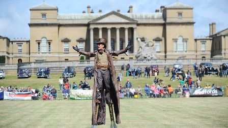 The Stampede Stunt Company performing in the main ring at The Holkham Country Fair. Picture: Ian Bur