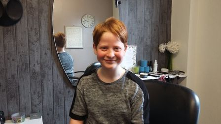 Ivy Stone, 11, from Lakenham, has had her hair cut short and has donated her long locks to the Littl
