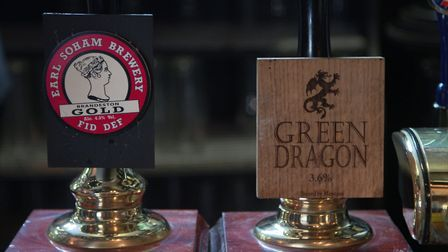 Beers on tap at The Green Dragon in Wymondham. Photo from Mustard TV.