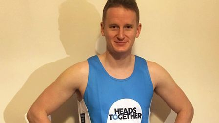 Owen Mathers who is running the 2017 London Marathon for the first time for three charities. Picture