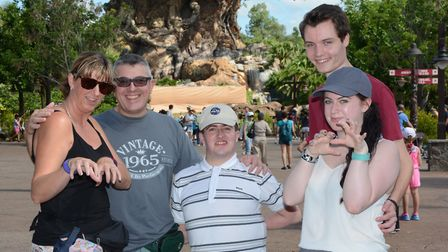 Jack Southey, centre, with his family in Florida last year Picture supplied by Norfolk police