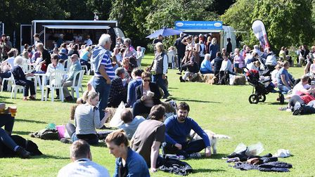 The Holkham Estate has hosted many food festivals. Here is a scene from the North Norfolk Food & Dri