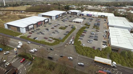 A CGI showing the proposed extension to Sweet Briar Retail Park. Picture: Infinite 3D Ltd