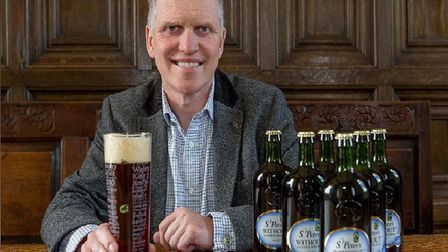 Steve Magnall, chief executive of St Peter's Brewery, with its Without alcohol-free beer. Picture: S