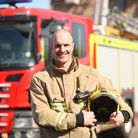 Firefighter Dean Macey is organising a fire safety poster competition for children. Picture: Ian Bur