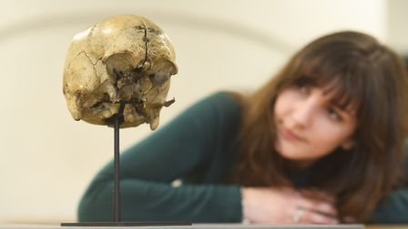The skull of notorious 18th-century murderer Eugene Adam, who was arrested in King's Lynn. Picture: