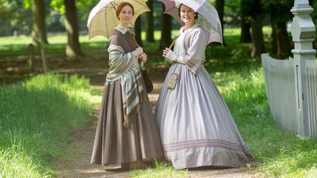 """A Quiet Passion starring Cynthia Nixon as Emily Dickinson and Jennifer Ehle as Lavinia """"Vinnie"""" Dick"""