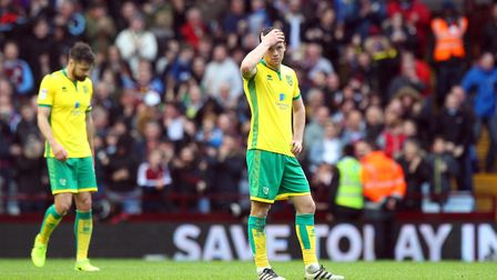 Jonny Howson is left looking dejected once again as Aston Villa seal their victory on Saturday. Pict