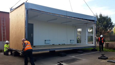 The new library for Cobholm Primary Academy is installed. Picture: Inspiration Trust