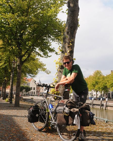 Owen Bushell, 25, is planning to cycle from the Mediterranean back to the UK to raise money for Nor