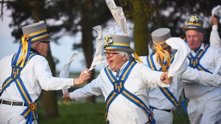 The King's Morris dancing up and down the county on Easter Monday. Picture: Ian Burt