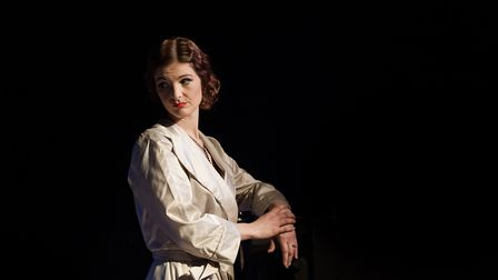 Helen Power in Noel & Gertie by Sheridan Morley being staged at the Theatre Royal, Bury St Edmunds.