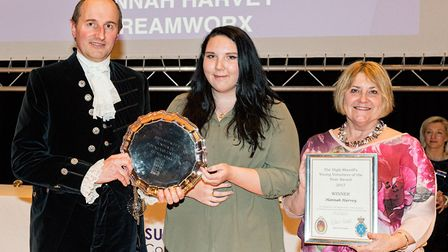 Hannah Harvey, who won the under-25 Young Volunteer of the Year award at the Suffolk High Sheriff's
