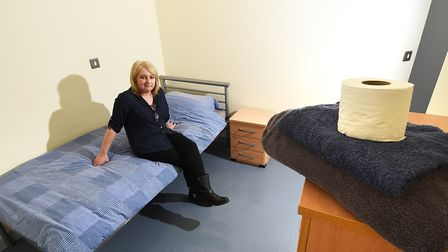New extension and rooms and Bishopbridge House in Norwich.Team leader Sally Parker in one of the new