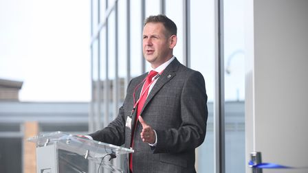 Principal David Pomfret at the College of West Anglia. Picture: Ian Burt