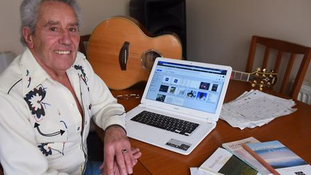 Don Woods who had to give up his country and western singing career, and has turned to writing poetr