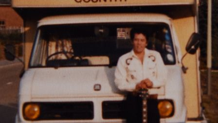 Country and western singer, Don Woods, travelling in his camper van. Picture: Courtesy Don Woods