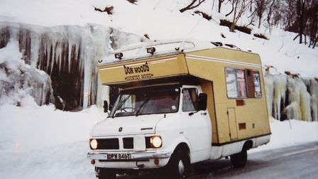 The camper van that Don Woods travelled around Norway in when during his time as a country and weste