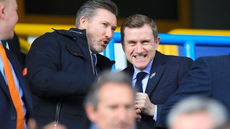Huddersfield owner Dean Hoyle, right. Picture: PA