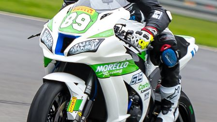 Fraser Rogers on the Morello Racing Kawasaki ZX-10RR. Picture: Barry Clay