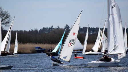 Horning Sailing Club's first day of racing for the 2017 season. Picture: Holly Hancock