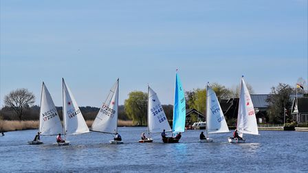 Horning Sailing Club's first day of racing for the 2017 season. Picture:Holly Hancock