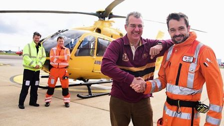 Tim Papworth meets Dr Begovic of the East Anglian Air Ambulance. Picture: EAAA