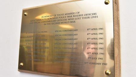 A special service was held at Yarmouth Police Station to unveil a plaque in memory of the people tha