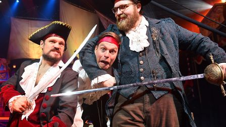 Pirates Live at the Hippodrome in Great Yarmouth. Captain Jack Hawkeye and Pirate Johnny played by J