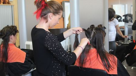 Hairdressing apprentices at Poultec Training in Mattishall. Picture: Poultec