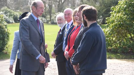The Duke of Kent arrives for his visit to Holt Hall Environmental & Outdoor Learning Centre. Picture