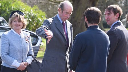 The Duke of Kent arrives for his visit to Holt Hall Environmental & Outdoor Learning Centre. Pictur