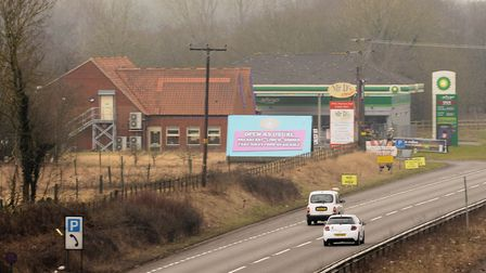 Mr D's Diner on the A11 southbound carriageway at Besthorpe. Picture: DENISE BRADLEY