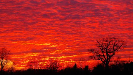 Sunset over Hoxne, Suffolk. PIC: Richard Downe.