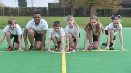 Pupils at Dickleburgh Primary School, near Diss, are running five marathons in five days to raise mo