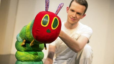 The Very Hungry Caterpillar with Adam Ryan in The Very Hungry Caterpillar Show. Picture: Pamela Rait
