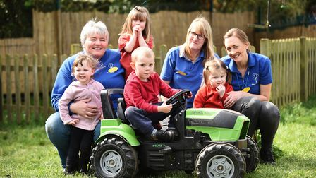 Stibbard Children's Centre may have to close if they can't find a new chairman. Pictured (back left)