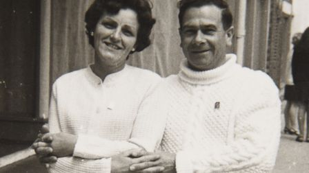 Leonard Cogman with his wife, Jean. Picture: Courtesy of Dawn Harvey