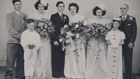 Leonard Cogman with his wife Jean on their wedding day in Norwich in 1947. Picture: Courtesy of Dawn