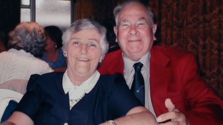 Leonard Cogman and his wife Jean. Picture: Courtesy of Dawn Harvey