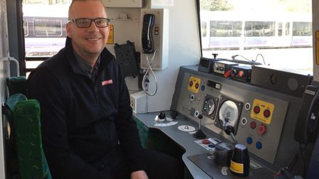 Greater Anglia driver Paul Herbert at Southend Victoria station. Picture: GREATER ANGLIA.