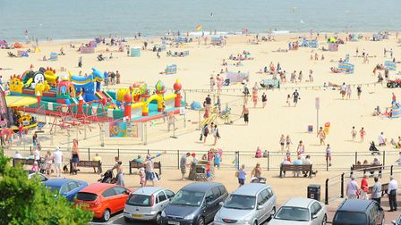 The start of a very warm and sunny weekend at which Norfolk beach? Picture: James Bass.