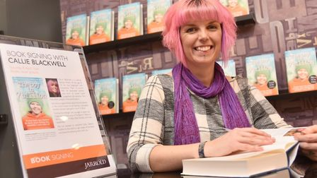 Callie Blackwell signs copies of her new book at Jarrolds. Byline: Sonya Duncan Copyright: Archant 2