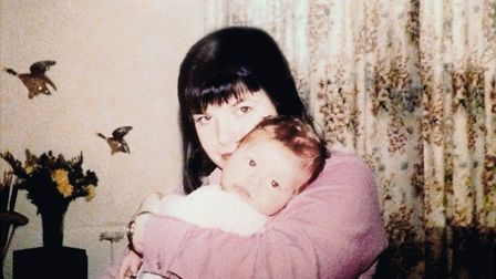 Callie Blackwell holds baby Deryn in 2000. Picture: Blackwell family