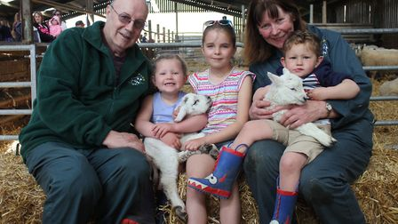 Graham and Wendy Williams with grandchildren Molly, Neve and Toby. Helped by friends and family, the